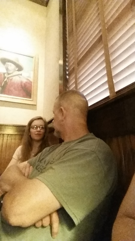 Rachel and Daddy at dinner