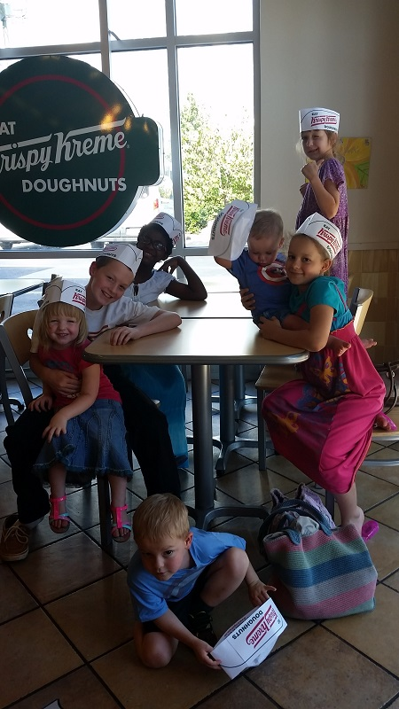 Donut fun at Krispy Kreme