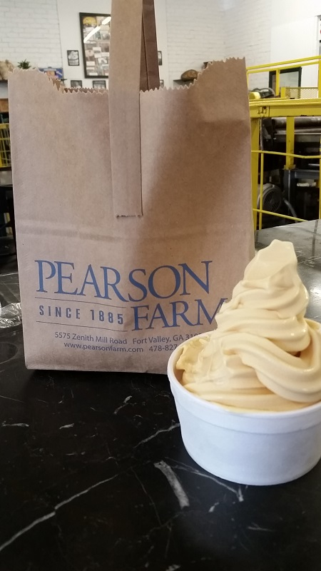 Pearson Farm peach ice cream